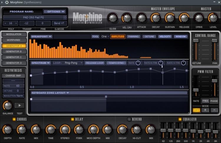 Morphine album track 7 preset D50 pad