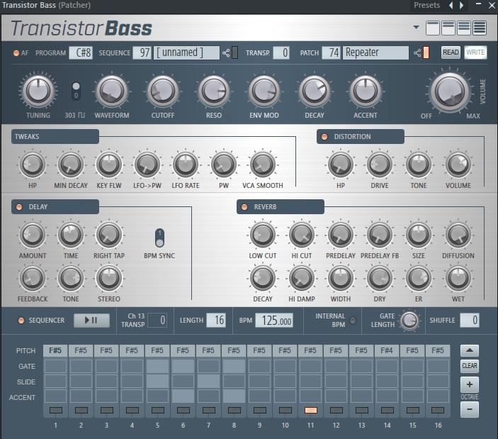 Transistor Bass preset repeater